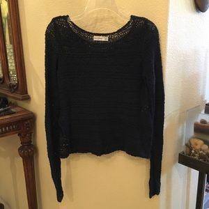 ABERCROMBIE KIDS Black Long Sleeve Knit Sweater XL